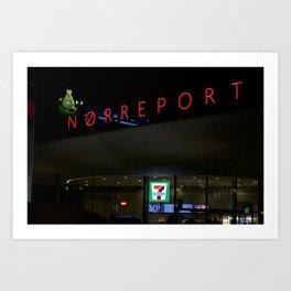 Norreport at night 1 Copenhagen Art Print