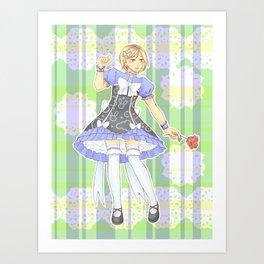 Kenma Kozume Alice in wonderland version Art Print