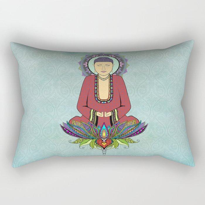 Meditating Buddha Rectangular Pillow