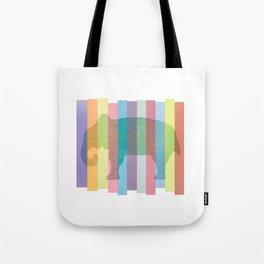 Color Elephant Tote Bag