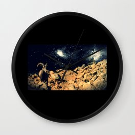 Space Sheep Wall Clock