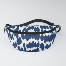 Navy Blue Abstract Dots Pattern Fanny Pack