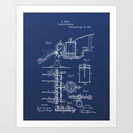 Bottling Machine Vintage Patent Hand Drawing Art Print