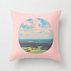 Earthy Pink Throw Pillow