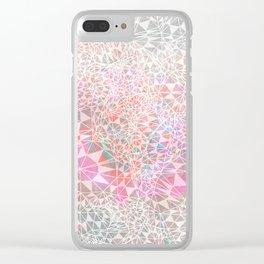 Geo batik pattern - pink Clear iPhone Case