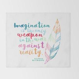 Alice In Wonderland | Quote 1 Throw Blanket