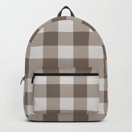 Buffalo Check Beige Cream Ivory Gingham Backpack