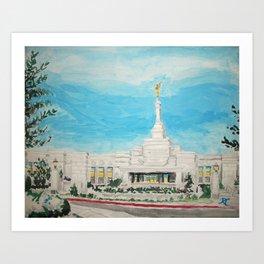 Reno Nevada LDS Temple Painting Art Print