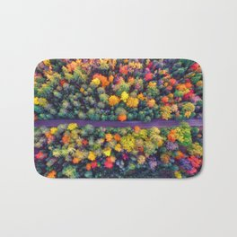The Autumn Forest (Color) Bath Mat