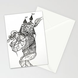 Walking Fortress Stationery Cards