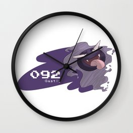 Pkmn #092: Gastly Wall Clock