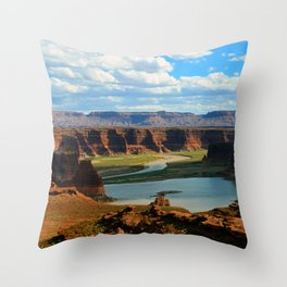 Utah's Colorado River Throw Pillow