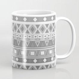black and white pattern, geometric pattern, gradint, gray striped Coffee Mug