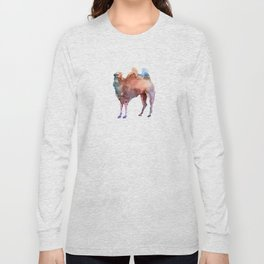 Camel / Abstract animal portrait. Long Sleeve T-shirt