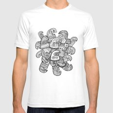 Heads White SMALL Mens Fitted Tee