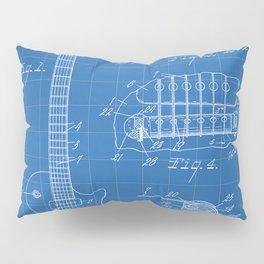 Gibson Guitar Patent - Les Paul Guitar Art - Blueprint Pillow Sham