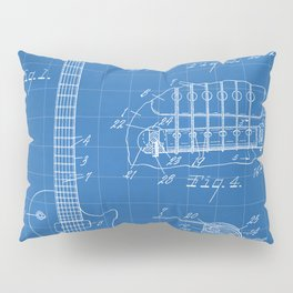 Gibson Guitar Patent - Les Paul Guitar Art - Blueprint Pillow Sham