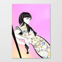 grimes Canvas Prints featuring GRIMES by Anna Kuzmicheva