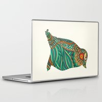 ethnic Laptop & iPad Skins featuring Ethnic Penguin by Pom Graphic Design