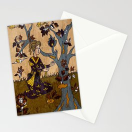 Persian man in Garden Stationery Cards