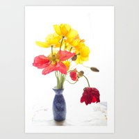 Still Life with Poppies  Art Print