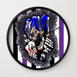 The Joker - Scattered and Stripped by Jeronimo Rubio 2016 Wall Clock