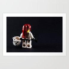 Lady Trooper Art Print