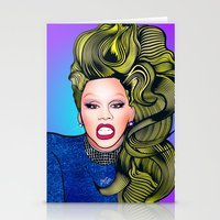 rupaul Stationery Cards featuring RUPAUL by Alli Vanes