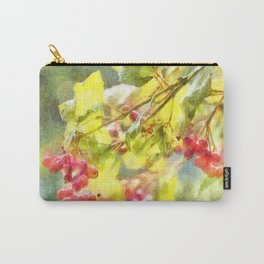 Winter Berries Watercolor Carry-All Pouch