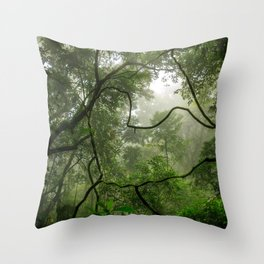 In the heart of the forest Throw Pillow