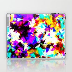 psychedelic geometric triangle abstract pattern in purple pink blue yellow red Laptop & iPad Skin