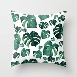 Tropical Monstera Pattern #3 #tropical #decor #art #society6 Throw Pillow