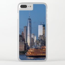New York City at Night Clear iPhone Case