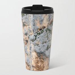 Cliffs in France Travel Mug