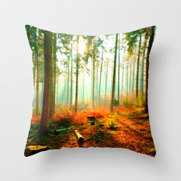 This forest feels like home Throw Pillow