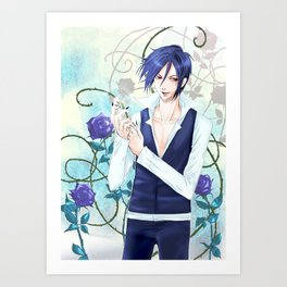 Sebastian and White Knight Art Print