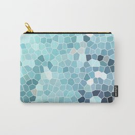 Turquoise Abstract Mosaic Art | Spring Carry-All Pouch