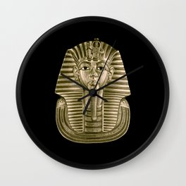 Golden King Tut Wall Clock