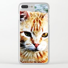 Young Yellow Cat Clear iPhone Case