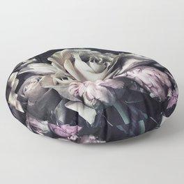 Roses peonies vintage style old masters flowers blooms Floor Pillow