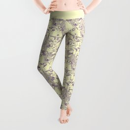 just goats purple cream Leggings