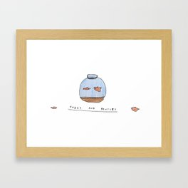 Fudgy and Bentley  Framed Art Print