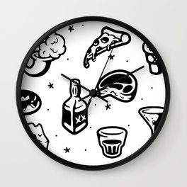 Pizza is Life Wall Clock