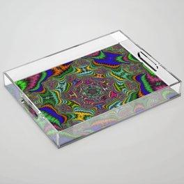Fractal Abstract 80 Acrylic Tray