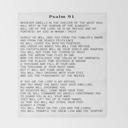 Psalm 91 #minimalism Throw Blanket