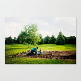Learning to Garden Canvas Print