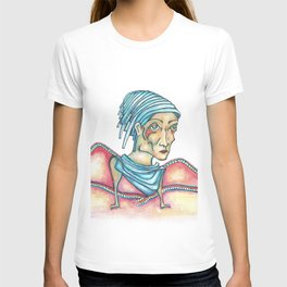 Blue Hat Woman T-shirt