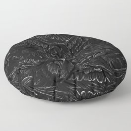 Raven Rage Floor Pillow