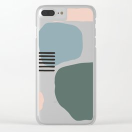 Abstract Stacked Stones 3 Clear iPhone Case