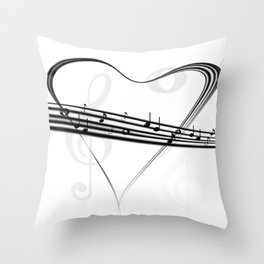 DT MUSIC 5 Throw Pillow